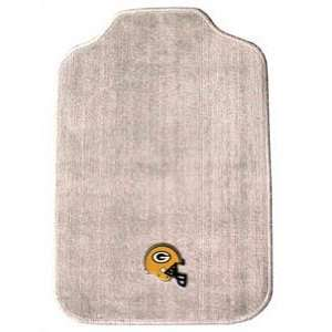 The Green Bay Packers NFL Football Set of 2 Gray Car Floor Mats