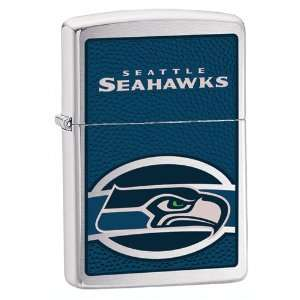 Zippo Seattle Seahawks High Polish Chrome Lighter Jewelry