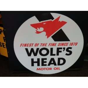 Wolf head old style large 24 inch sign