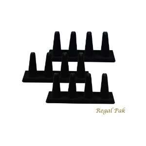 Regal Pak Three Piece Black Velvet 4 Finger Ring Stand 6 5