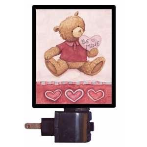 Valentine Night Light   Be Mine   Bear   LED NIGHT LIGHT