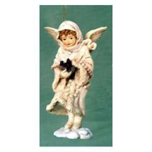 Holiday Snow Angel With Bird Christmas Ornament #W7132