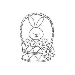 Art Gone Wild Rubber Stamps bunny/Chicks Basket 2Pk