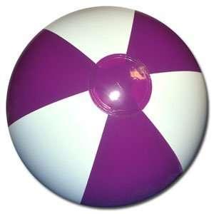 Beachballs   16 Purple & White Beach Balls
