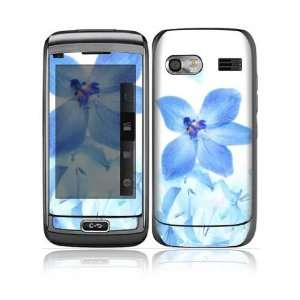 Blue Neon Flower Design Protective Skin Decal Sticker for LG Vu Plus