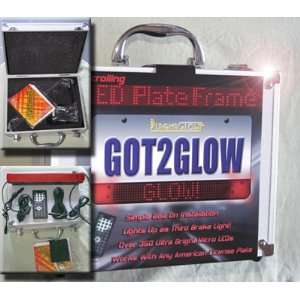 Color Changing LED License Plate Frame