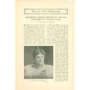 1897 Iowa Federation of Womens Clubs Anna Howe Jessie