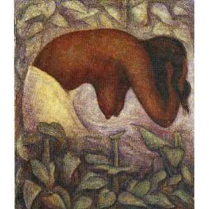 Diego Rivera   32 x 36 inches   Bather of Tehuantepec