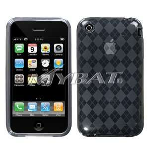 APPLE IPHONE 3G AND 3GS CANDY SKIN SMOKE ARGYLE DIAMOND