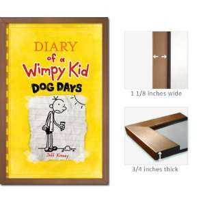 Bronze Framed Diary Wimpy Kid Poster Dog Days J Kinney Fr6399: