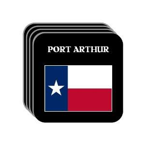 US State Flag   PORT ARTHUR, Texas (TX) Set of 4 Mini