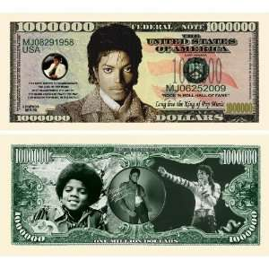 Michael Jackson  King of Pop Million Dollar Bill Novelty