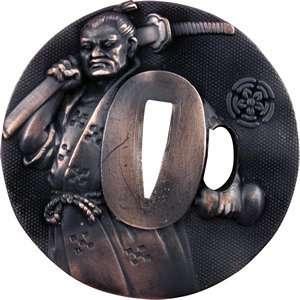 Practical Series   Oda Nobunaga Tsuba   Blue