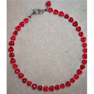 Circle Of Love Valentines Day Ruby Red Hearts Crystal