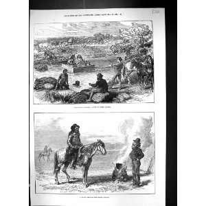 1874 American Half Breed Hunter Crossing River Wimbledon Rifle Targets