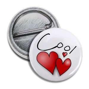 COOL HEARTS Valentines Day 1 Mini Pinback Button Badge