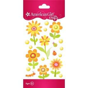 American Girl Crafts Mixed Stickers, Warm Flowers Toys