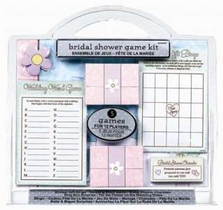 Bridal Shower Party Games Kit   Pink Frosting Bridal Shower Party