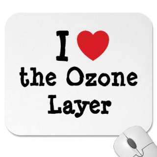 love the Ozone Layer heart custom personalized Mouse Mat from Zazzle