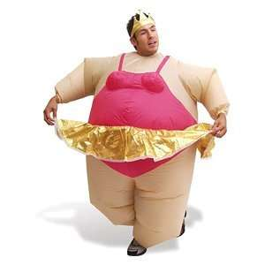 Inflatable Ballerina Fat Suit Fancy Dress Costume Suit: .co.uk