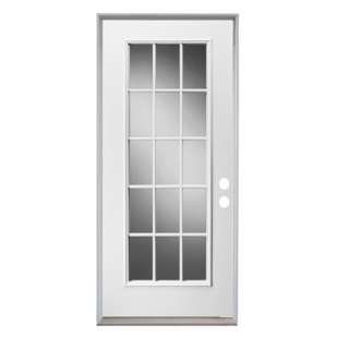 Lite steel entry door with 14 in sidelites h31368 for 15 lite interior door home depot