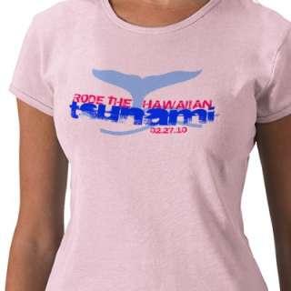 RODE THE HAWAIIAN tsunami 02.27.10 Tee Shirt by BartzPeterson