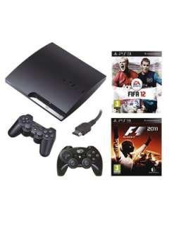 Playstation 3 160Gb Console Sports Bundle with FIFA 12, F1 2011, HDMI