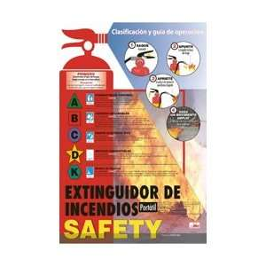 SPPST003   Poster, Fire Extinguisher Safety, Spanish, 24