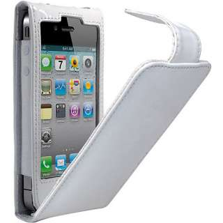 Cygnett Glam Patent Leather Case for iPhone 4, White Cell Phones
