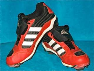 Adidas Red Baseball Football Cleats Shoes Size 10 Mens