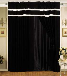 black and white curtains in curtains
