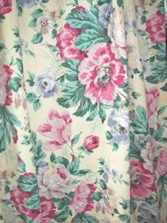 VINTAGE SHABBY FLORAL CHIC FRENCH COUNTRY VICTORIAN DRAPES CURTAINS