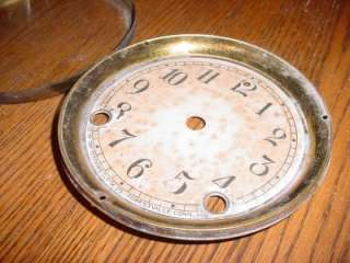 Old Antique Sessions Mantle Clock Bezeled Hinged Door Dial for