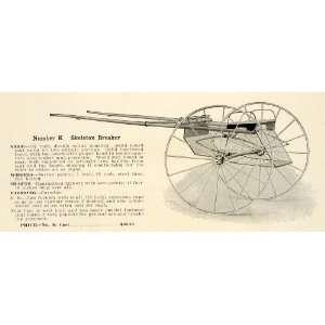 1912 Ad Antique No. K Skeleton Breaker Horse Cart Farm Equipment