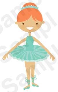 DANCING BALLERINA BALLET BABY GIRL NURSERY DANCE WALL ART MURAL