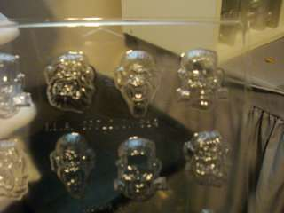 BITE SIZE MONSTER FACES.CHOCOLATE CANDY SOAP MOLD MOLDS |