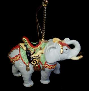 Lenox China Carousel ELEPHANT Christmas Tree Ornament 1989 Tusky Guy