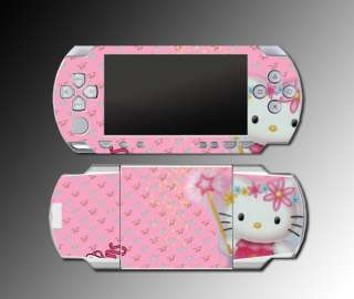 Cute Kitty Cat Pink Fairy Wand game SKIN 1 for Sony PSP