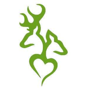 Browning Deer Head Heart Logo Style #2(Decal will come in
