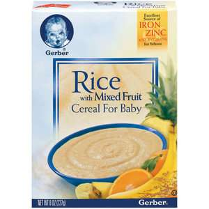 Gerber Fruit Cereals Rice With Mixed Fruit Cereal For