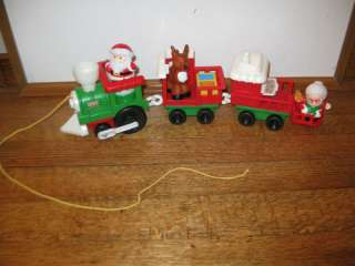 People Musical Christmas Train Set Santa Mrs. Claus Reindeer