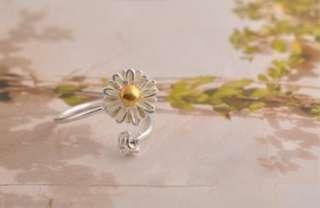 F4549 Crystal Chrysanthemum Flower Ring Size6 9