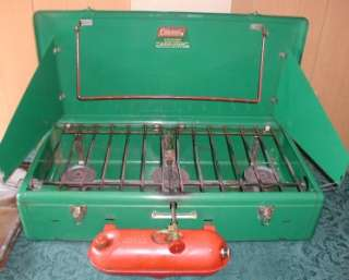 Vintage Coleman 426c Camp Stove 3 Burner with Stand and Toaster