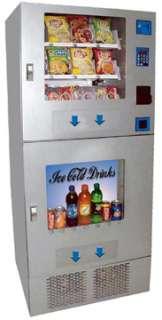 Combo Vending Machine Snack and Soda Pop Bottled Water Energy Drinks