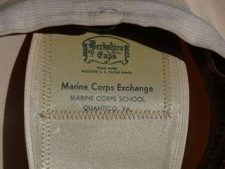 MARINE CORPS OFFICER WHITE VISOR CAP EXCHANGE QUANTICO VIRGINIA