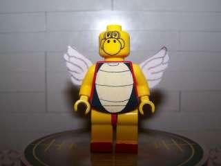 Lego Minifig CUSTOM Mario Bros. Koopa Paratrooper Red