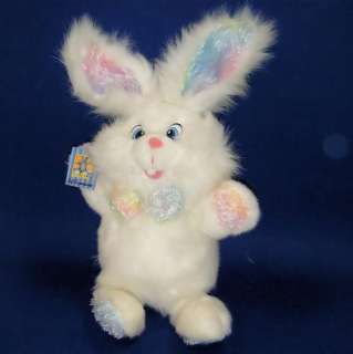 Dan Dee Collectors White Sparkle Bunny Rabbit Plush NWT