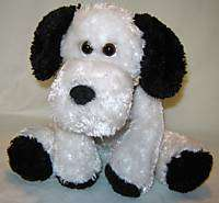 Dan Dee Collectors Choice Plush White Black Dog w/Bow
