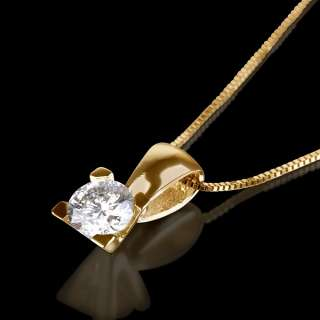 CT REAL DIAMOND ESTATE PENDANT NECKLACE WHITE GOLD 14K