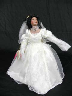 Paradise Galleries Porcelain Collectible Wedding Doll 18 |